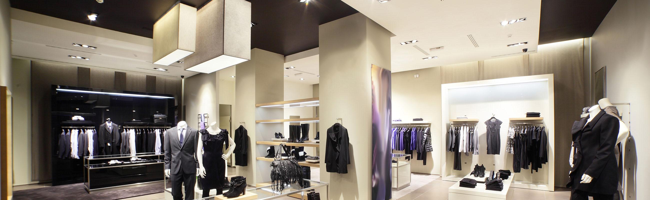Lighting for retail units